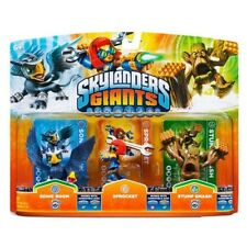 Skylanders Giants Triple PERSONNAGE Pack - Sonic Boom, PIGNON & Stump Smash NEUF