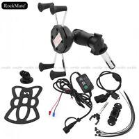 GPS/Mobile Phone Holder Mount/USB Charger For Honda VFR800F CBR 600 F4I CBR600RR
