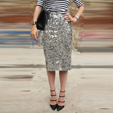 New Fashion Ladies Elegant Sequin Party Evening Club Cocktail Pencil Skirt Dress