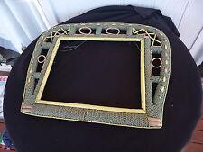 vintage antique art deco nouveau seagrass cane mirror picture photo frame