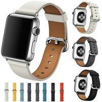 Repalcement Leather Wrist Strap Band Bracelet 38mm/42mm for Apple Watch 1/2
