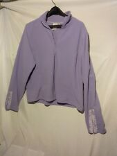 Coldwater Creek Womens XXL Pullover Fleece Half Zip Sweatshirt Lavender