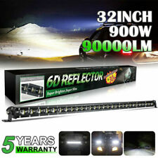Single Row 32 Inch Ultra Slim Led Work Light Bar Offroad 4x4 Truck 7 20 30 Fits Mustang