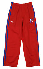Adidas NBA Youth Boy Los Angeles Clippers 3-Stripe Track Pants, Red