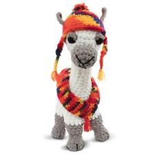 Knitty Critters Llulu Llama Crochet Kit, DIY Knitting Kit Crochet Embroidery