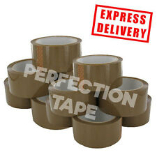 144 ROLLS BUFF BROWN PERFECTION TAPE PACKING TAPE BOX SEALING 48MM X 66M