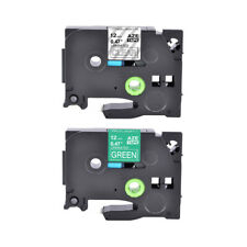 2pk Compatible With Brother Tz 135 735 Label Tape 12 White On Cleargreen