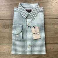 UNTUCKit Men's Long Sleeve Button Front Dress Shirt Casual Blue Check Sz Medium