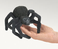 NEW PLUSH SOFT TOY Folkmanis 2754 Mini Black Spider Finger Puppet 10cm
