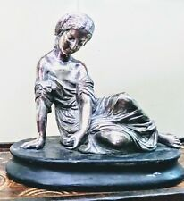 19TH CENTURY SILVERPLATED SCULPTURE OF FEMALE