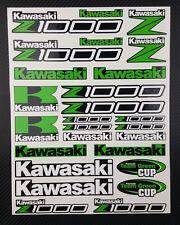 z1000 motorrad aufkleber set 24x32cm blatt 26 stickers grün z 1000 zxr Verbund