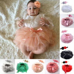 Newborn Baby Kids Girl Tutu Skirt Photography Costume Prop Dress Headband