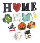 Decorative Tabletop Home Letter Sign with Seasonal Icons - 13 Pieces