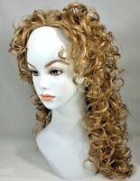 "20"" long 3/4 cap Fall w/Spiral Curls Half Wig w/ Flexible Combs"