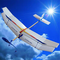 Assembly Glider Rubber Elastic Powered  Flying Plane Fun Model Kids Toy_AU