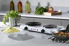 Électrique portable plaque twin double plaque chauffante 2500W table top double plaque chauffante cuisinière