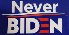 Wholesale Lot of 6 Never Biden Blue Decal Bumper Sticker