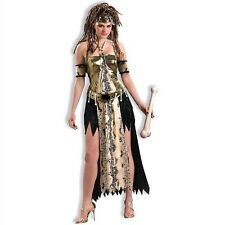 STONE AGE STYLE VOODOO PRIESTESS ADULT HALLOWEEN COSTUME WOMEN SIZE MED/LARGE