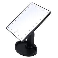 LENTE D'INGRANDIMENTO Touch Screen 16 LED Luce Vanità Trucco Specchio cosmetico da tavolo bianco