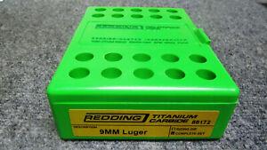 Redding Titanium Carbide 9mm Die Set #88172 NIB Fast Shipping