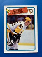 Mario Lemieux 1988-89 O-Pee-Chee OPC Hockey Card #1 Pittsburgh Penguins