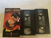 GONE WITH THE WIND VHS TAPE 2-VHS BOX SET CLARK GABLE VIVIEN LEIGH CLASSIC MOVIE