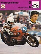 MOTO carte fiche photo WALTER VILLA