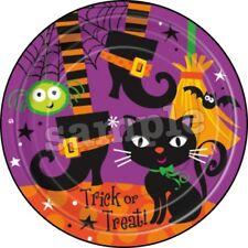 Halloween Tortenaufleger Party Deko Tortenbild Katze Hexe Spinne Besen Kürbis