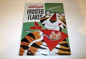 Kellogg's Frosties Embossed Tin Sign