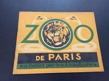 Zoo de Paris en Relief par les Anaglyphes ( Collection)