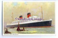 LS00379 - Cunard Liner - Mauretania ( Black Hull ) - art postcard