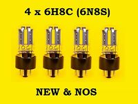 4 x 6N8S = 6SN7 = 1578 tubes || NEW || NOS || Russian double triodes || Quad