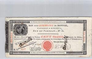 Caisse d'échange de Rouen 100 Francs An 12 n° 813 Pick S 246 b