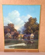Vintage 1942 Maxfield Parrish, Sunup, Brown Bigelow Landscape Print