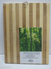 "Quality Large Authentic Bamboo Cutting Board w/ring; 12"" x 16"" x 5/8"" ;Brand New"