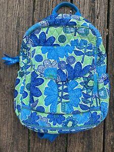 VERA BRADLEY BackPack Limited Edition Dragonfly Flower Cobalt Blue Book Bag gn12