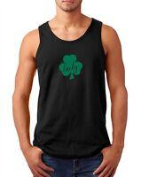 Mens Tank Top Lucky #2 Green Clover T Shirt Irish Shamrock St Patrick's Day Tee