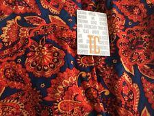 LuLaRoe TC Blue Leggings Tall Curvy New Blue Solid Orange Large Paisley Nice HTF
