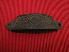 ANTIQUE CAST IRON VICTORIAN ORNATE DRAWER PULL HANDLE  A24 1880'S EASTLAKE