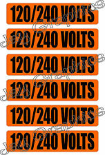 120-240 Volts Voltage & Conduit Markers | Stickers | Decals | Volt Labels