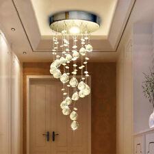 Modern Ceiling Light Lamp Crystal Spiral Pine Pendant Light Rain Drop Chandelier
