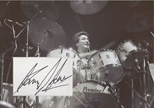 KENNEY JONES Signed 12x8 Photo Display THE WHO & THE SMALL FACES Drummer COA