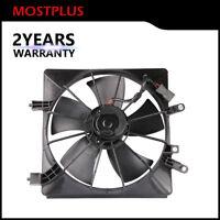 Left Side Radiator AC Condenser Cooling Fan Assembly For 2001-2005 Honda Civic