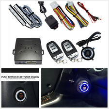 Car Security System Vibration Alarm Ignition Engine Start Push Button Remote C8
