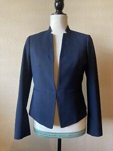 Ann Taylor Navy Lined Blazer Jacket Size 2 Petite EUC