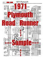 1974 Plymouth Roadrunner Full Car Wiring Diagram High Quality Printed Copy Ebay