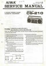 AIWA CS-210 CS 210 - BOOMBOX - SERVICE MANUAL IN COLOR VERSION - REPAIR -