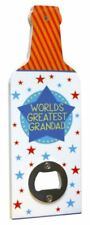 Worlds Greatest Grandad Bottle Opener Fathers Day Birthday Christmas Gift Plaque