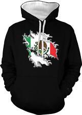 Mexican Shred Flag Orgullo Bandera Mexicana Mexicanos 2-tone Hoodie Pullover