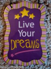 Live Your Dreams-ceramic sign-Ganz-FREE Shipping